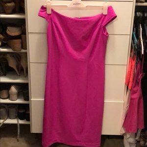 Hot Pink off the shoulder Vince Camuto dress